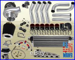 91-99 Bmw E36 325 328 323 M3 I6 T3/t4 8pc Turbocharger Turbo Kit Manifold Fmic K