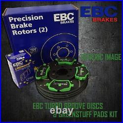 EBC 300mm REAR TURBO GROOVE GD DISCS + GREENSTUFF PADS KIT SET KIT7528