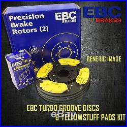 NEW EBC 259mm REAR TURBO GROOVE GD DISCS AND YELLOWSTUFF PADS KIT PD13KR302
