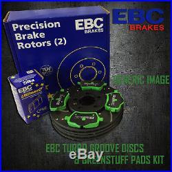 NEW EBC 296mm REAR TURBO GROOVE GD DISCS AND GREENSTUFF PADS KIT KIT7501