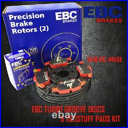 NEW EBC 312mm FRONT TURBO GROOVE GD DISCS AND REDSTUFF PADS KIT KIT7888