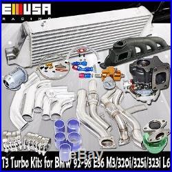 T3 Turbo Kit for 92-98 BMW E36BOLT ON M3 320i 325i 323i L6 T3